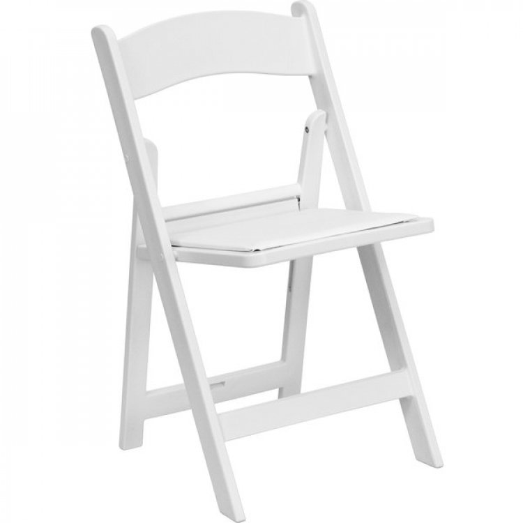 White Folding chairs plastic