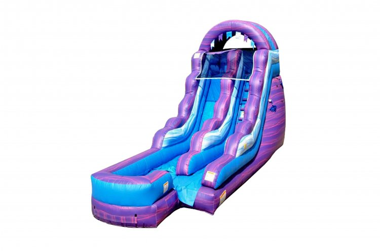 15' Cotton Candy Dry slide no pool