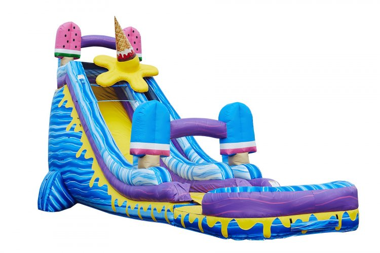 24' Ice pop water slide w/pool