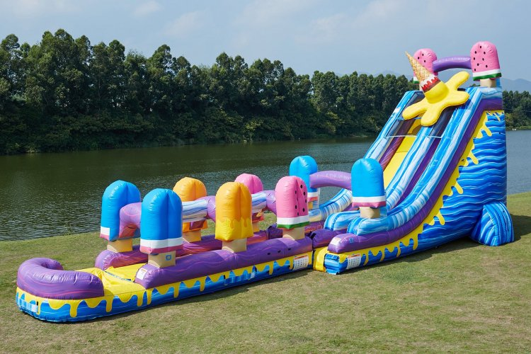 24' Ice pop Water slide w/slip-n-slide