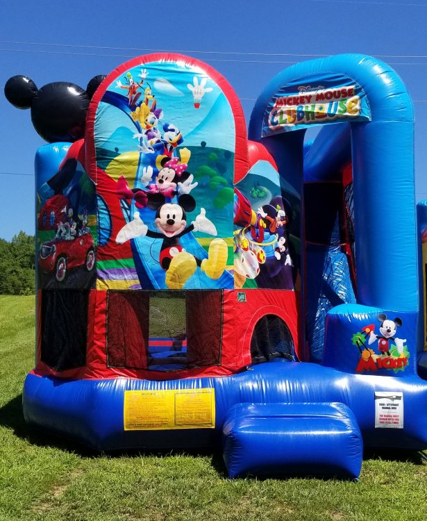 Mickey Mouse Bouncer Slide combo wet