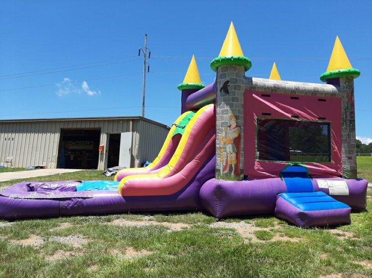 Princess Bouncer Slide combo w/pool