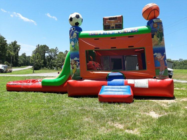 Sports Bouncer double Slide Combo w/pool